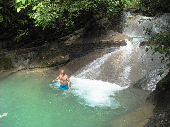 Cascadas de Tamul, frisches Bad