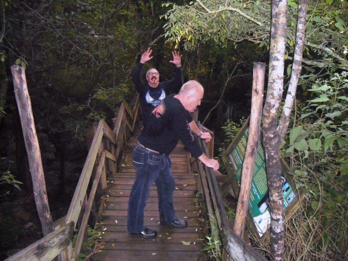 Stufenweg zum Sótano de las Golondrinas