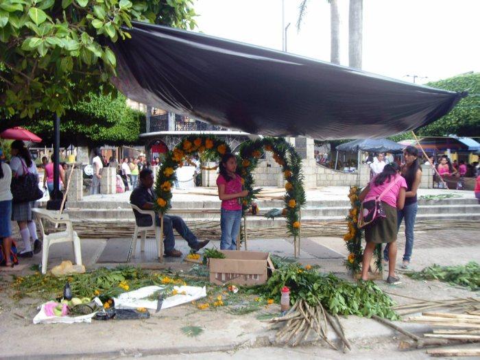 Vorbereitungen für das Fest der Toten