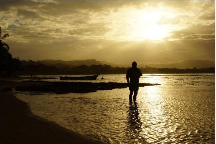 Costa Rica 16 Puerto Viejo Abendstimmung am Strand