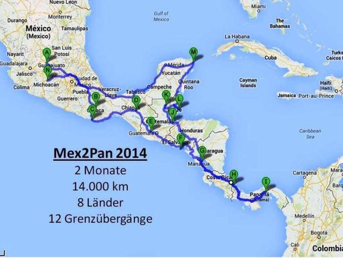 Mexico-Panama mit dem Motorrad, Mex2Pan