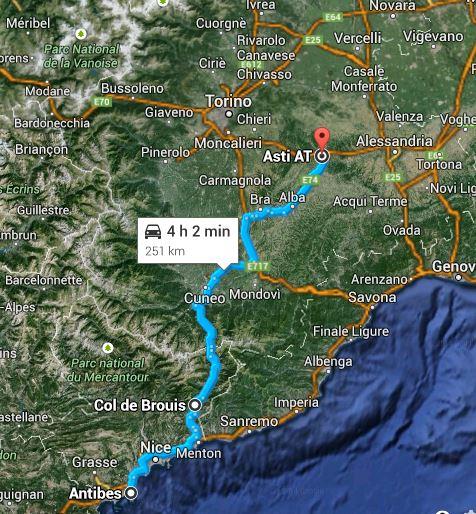 Ruta Europa 2014 - 9. Etappe Antibes - Col de Brouis, FRA - Asti, Italien