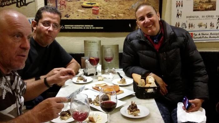 verdientes Abendessen in San Sebastian
