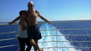 auf der Fähre - wie auf der Titanic, nur  achtern