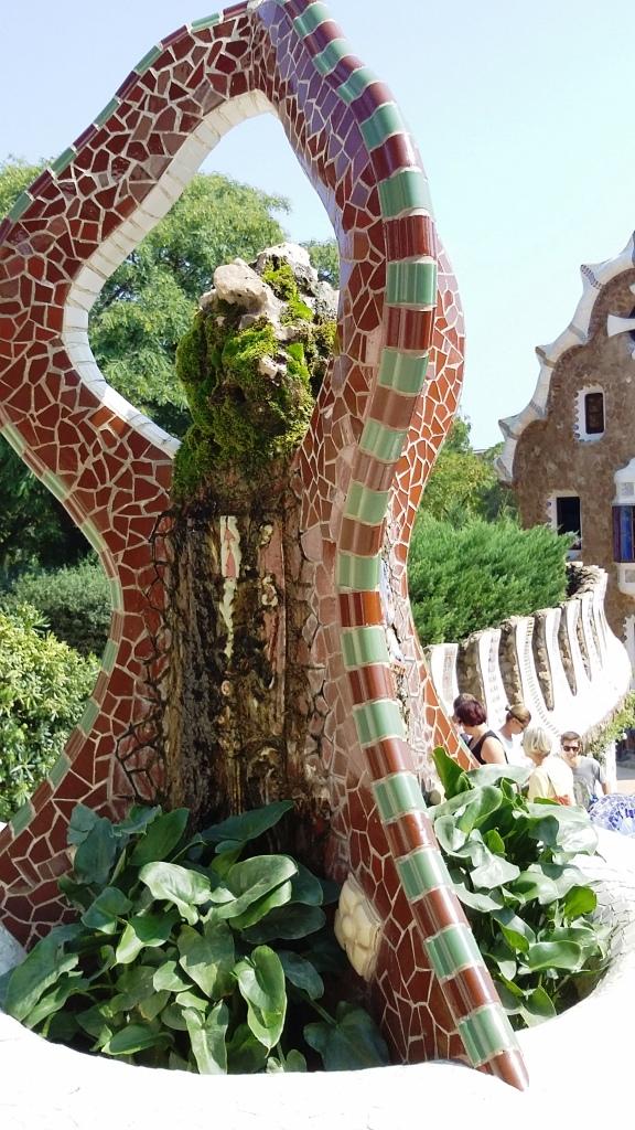 Barcelona im Park Güell, Skulptur