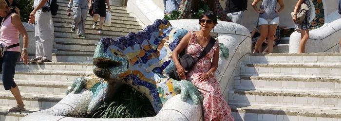 Barcelona Irma im Park Güell
