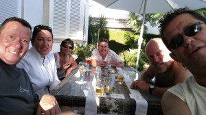 Selfie mit Berthold, Simone, Irma, Tere, Mike und Elias