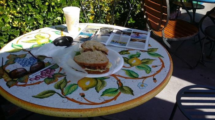 Frühstück in Bishop