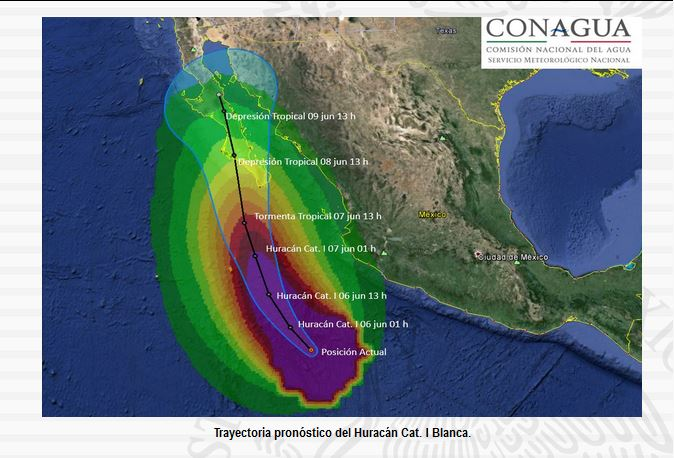 Hurricane Blanca 5 Juni 2015
