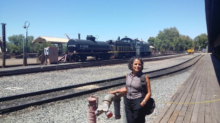 nostalgischer Bahnhof Sacramento